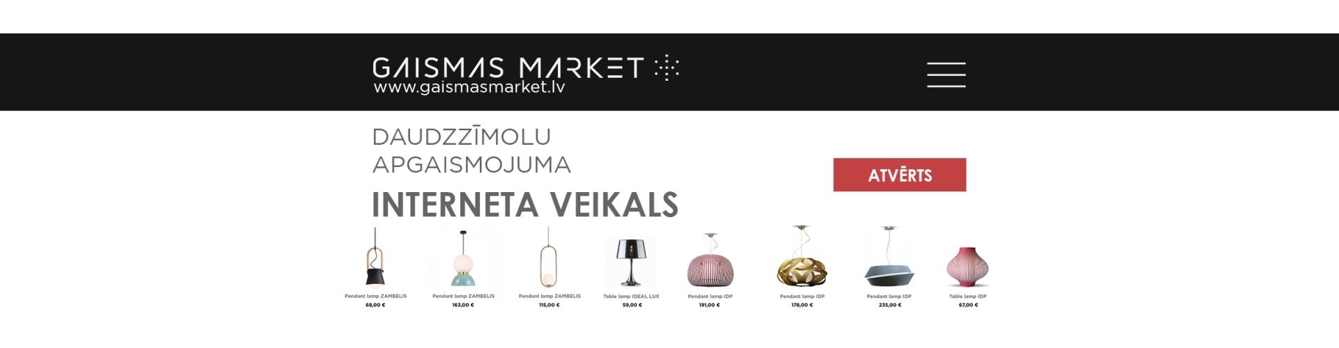 Gaismas Market – новый мультибрендовый интернет-магазин светильников в  Балтии! e4aa45fbab4